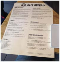 Cafe Dufrain picture 1 menu