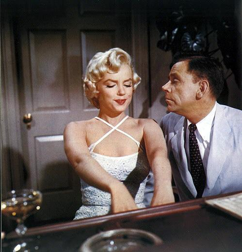 Marylin Monroe and Billy Wilder in Seven Year Itch