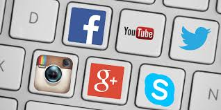 social media as keys on a keyboard for divorce
